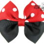 Red/Black Two Tone Bow