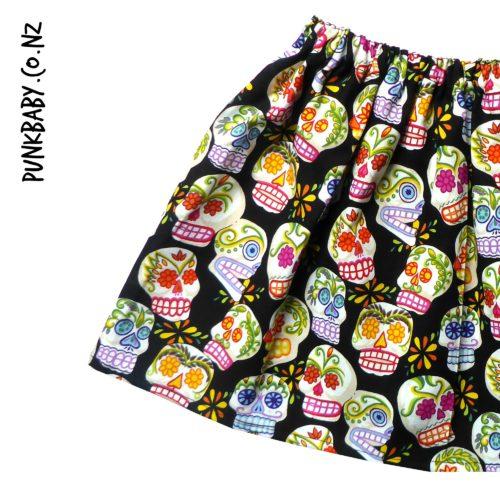 Rad! Sugar Skull skirt by Punk Baby