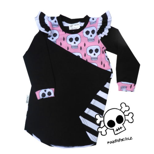 Bring out your inner rebel with this super rad Punk Baby Dress!