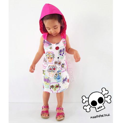 Funky sugar skull dress by Punk Baby