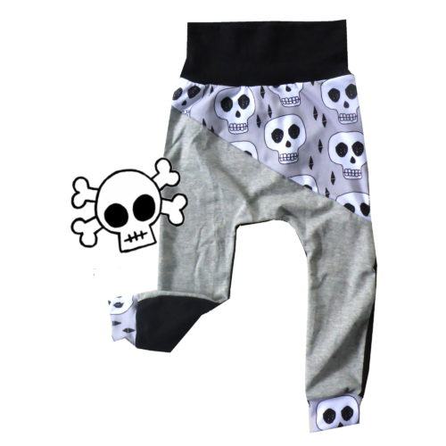 Grey Skull pants by Punk Baby