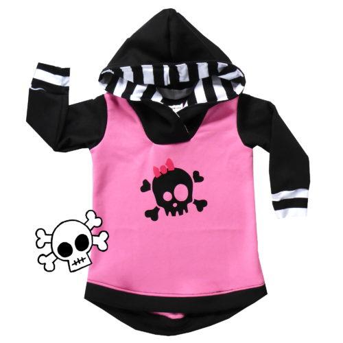 funky skull hoodie by Punk Baby