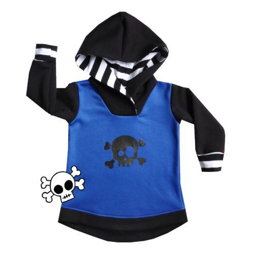 Blue skull hoodie by Punk Baby