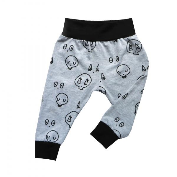 Grey Skulltown Baby Pants