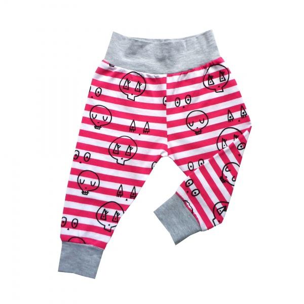 Pink Skulltown Baby Pants