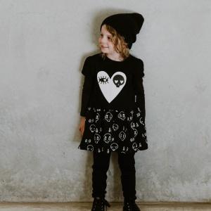Black Skull Dress by Punk Baby