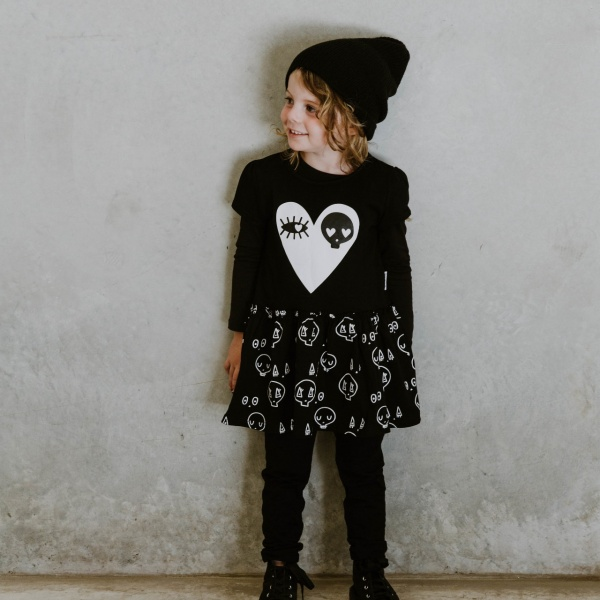 Black Skull Dress by Punk Baby