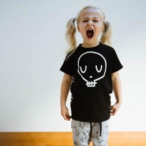 Black Skull Tee by Punk Baby