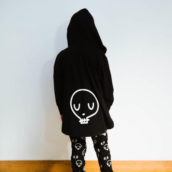 Black Skullyman Cardy by Punk Baby