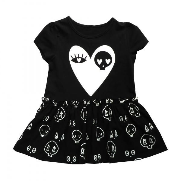 Black Skull Love Dress