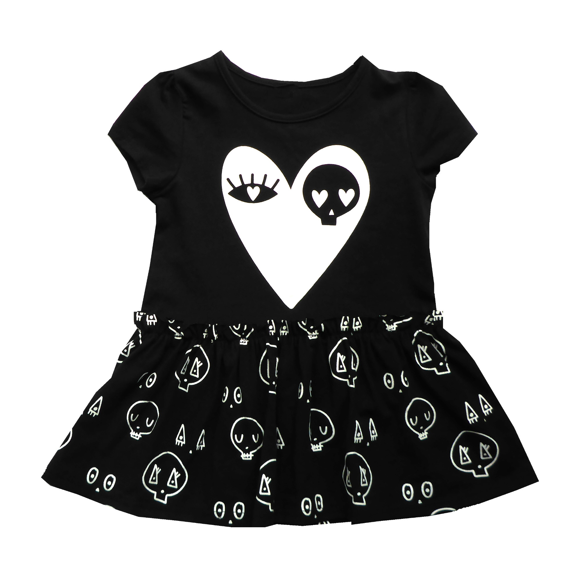 Black Skull Love Dress Punk BabyPunk Baby