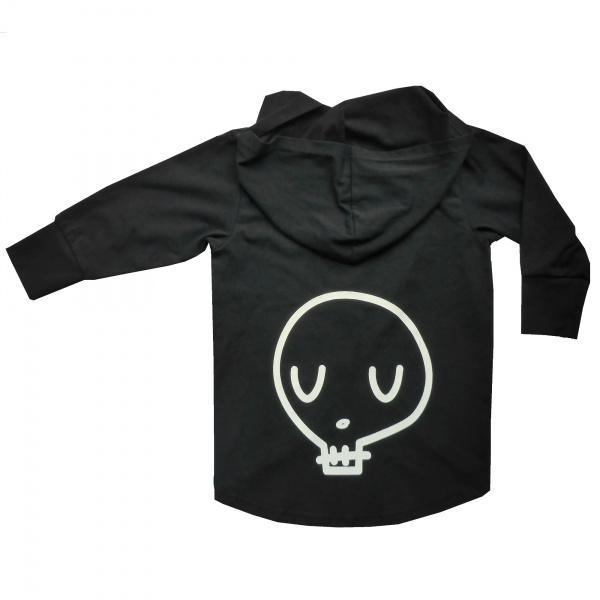 Black Skullyman Hooded Cardy