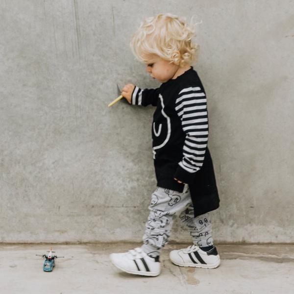 Grey Skull Joggers by Punk Baby