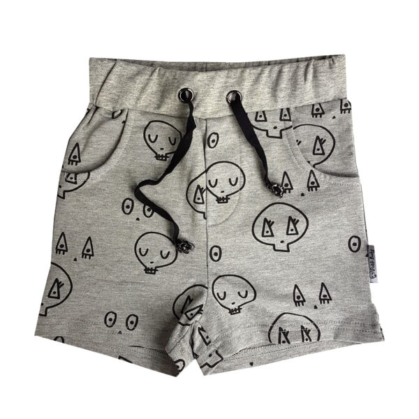 Grey Skulltown Shorts