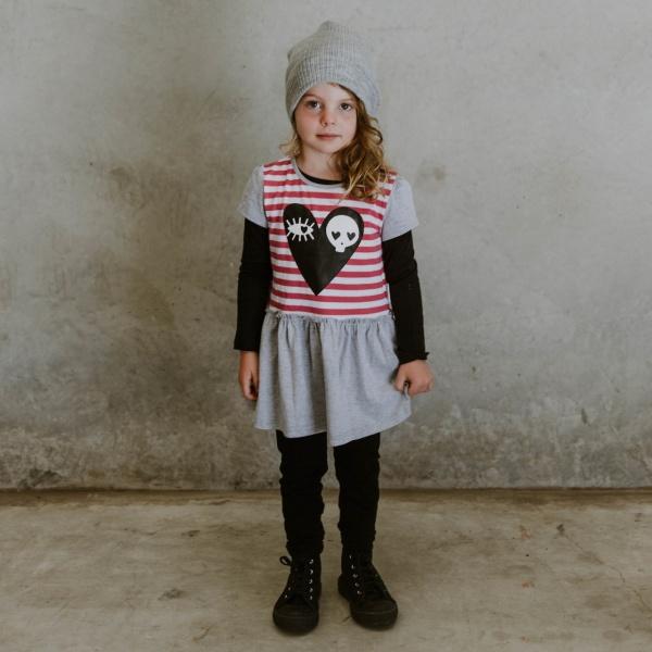 Pink Skull Love Dress by Punk Baby