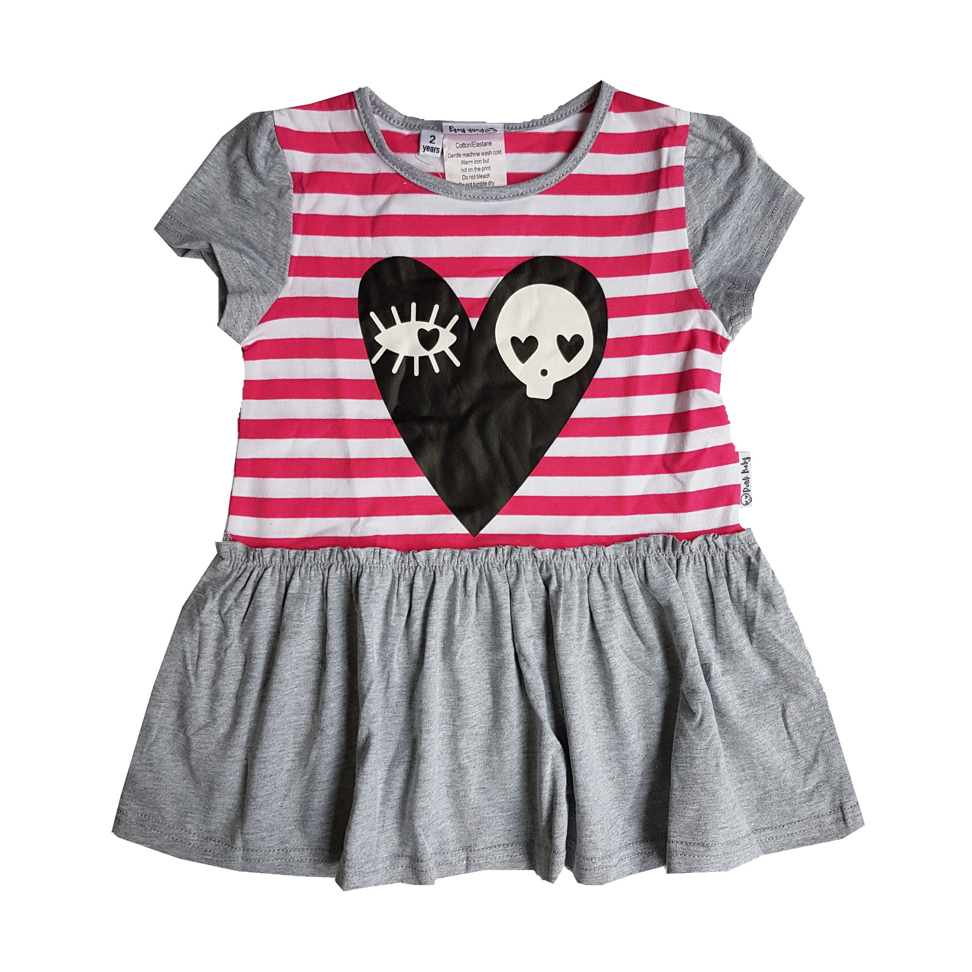 Grey Skull Love Dress Punk BabyPunk Baby