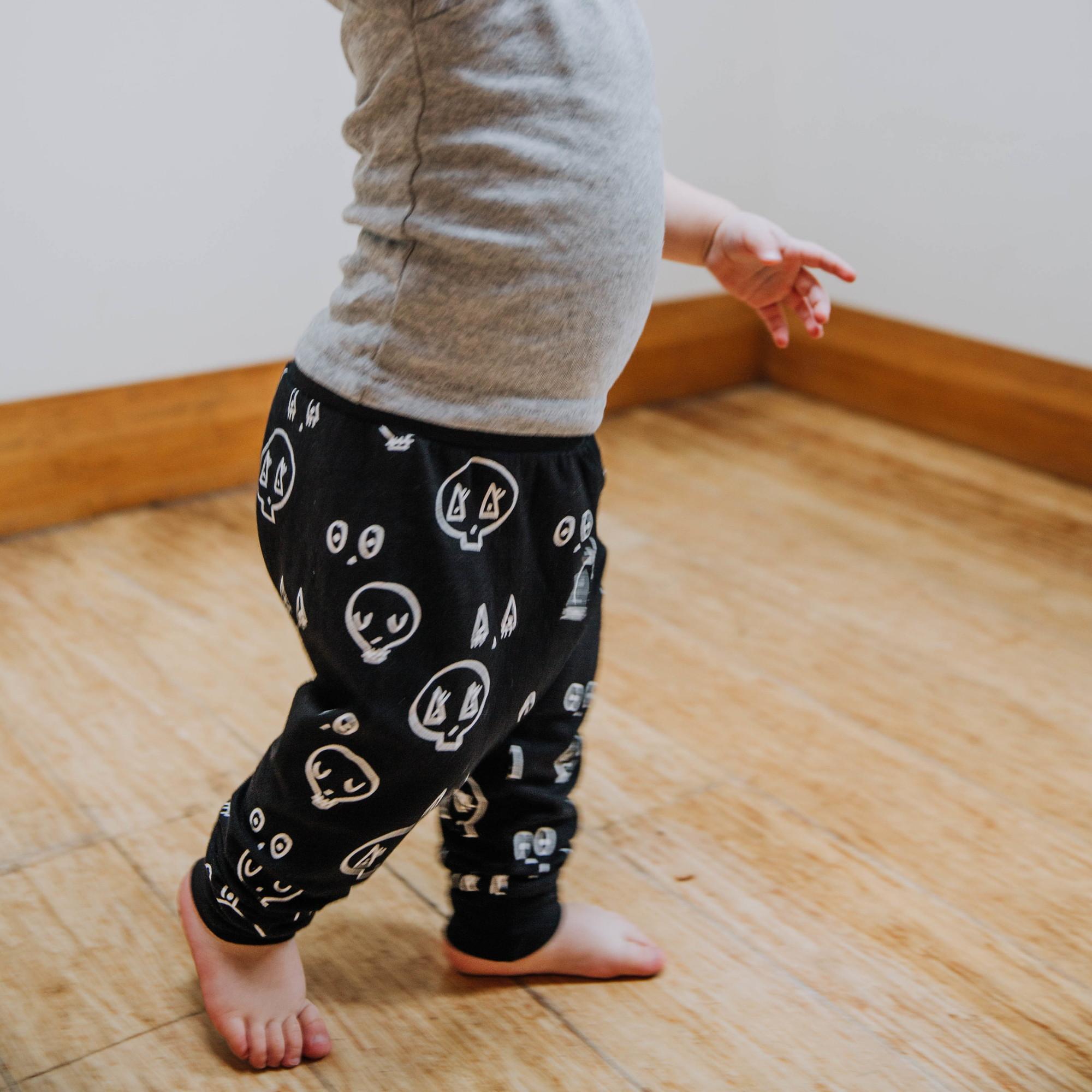 Black Skulltown Baby Pants Punk BabyPunk Baby