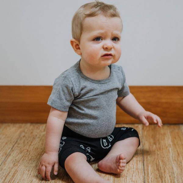 Punk Baby Black Skulltown Shorties
