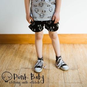 Black Skulltown Shorts
