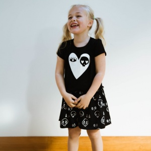 Black Heart Dress by Punk Baby
