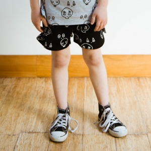 Black Skulltown Shorts by Punk Baby