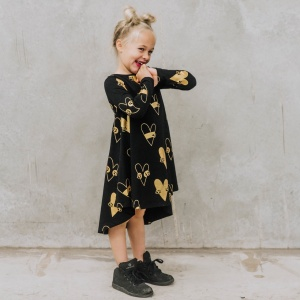 Gold skull dress by Punk Baby