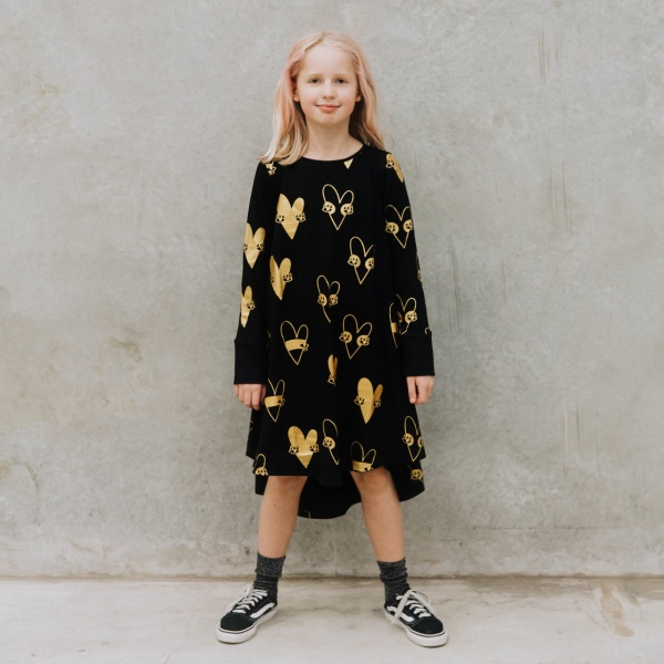 Black and gold skull dress by Punk Baby
