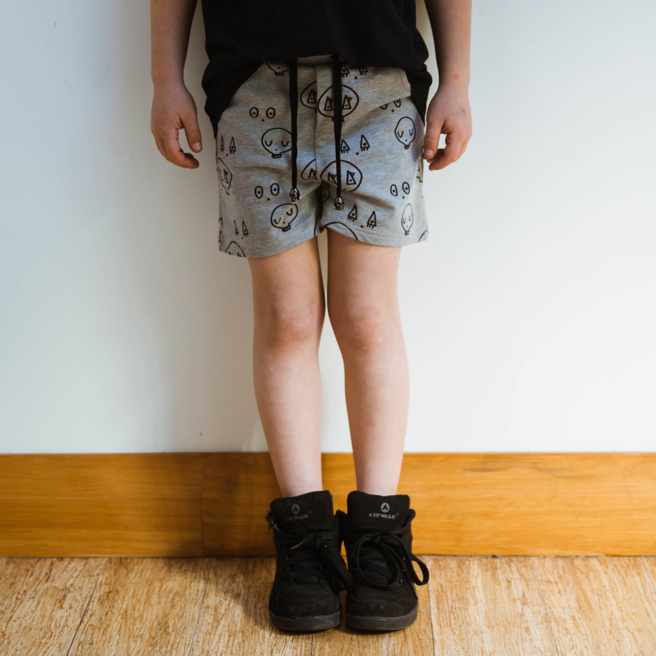 Grey Skulltown Shorts by Punk Baby