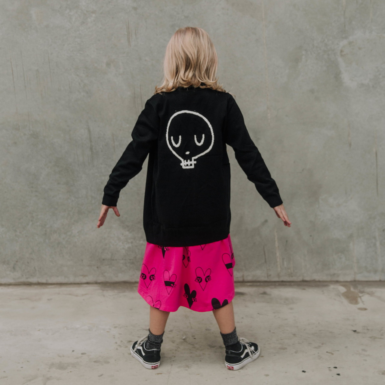 Skull Knitted Cardi by Punk Baby