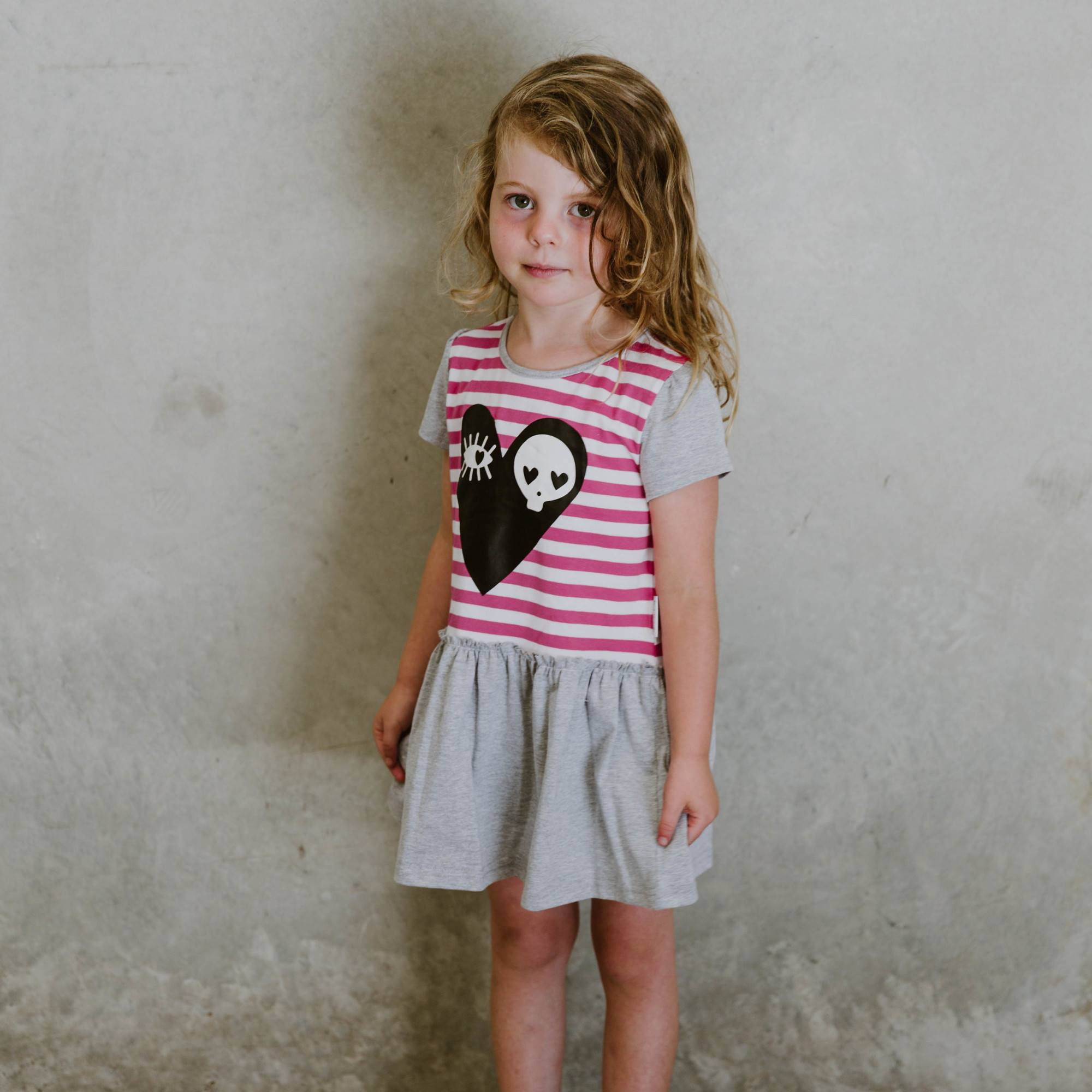 Pink Heart Dress by Punk Baby