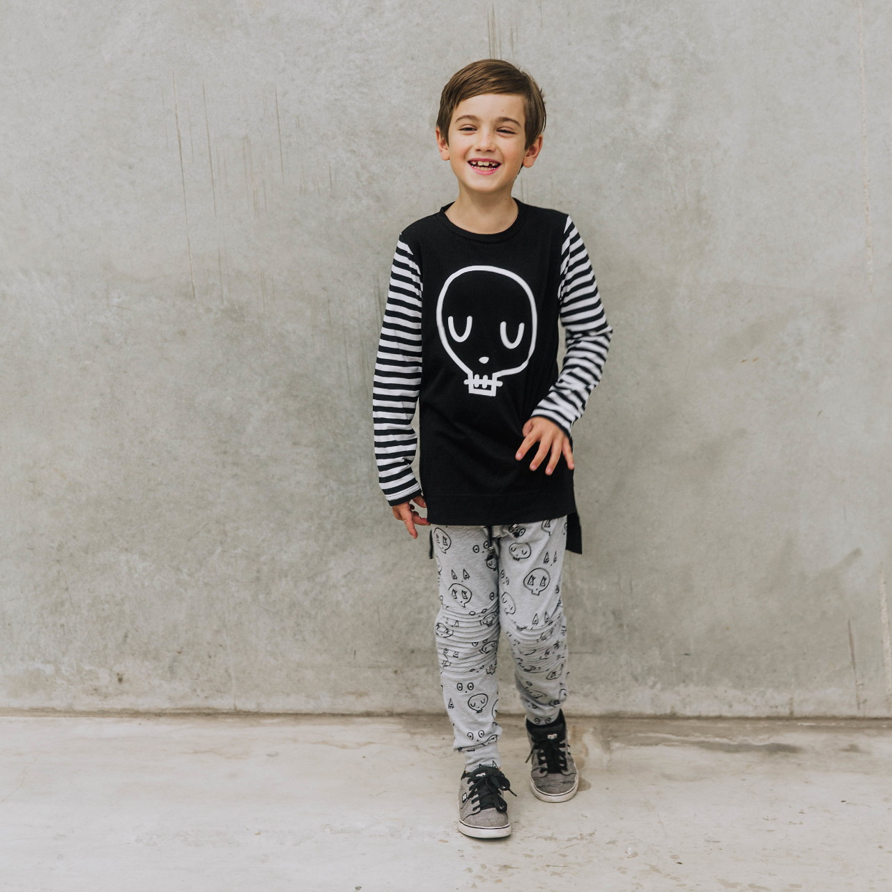 Black Skull Tee by Punk Baby