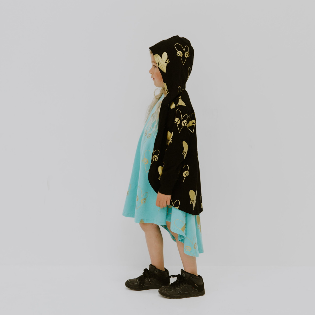 Amazing cardy by Punk Baby with metallic gold heart print