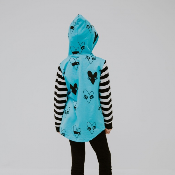 Aqua Heart Hoodie by Punk Baby