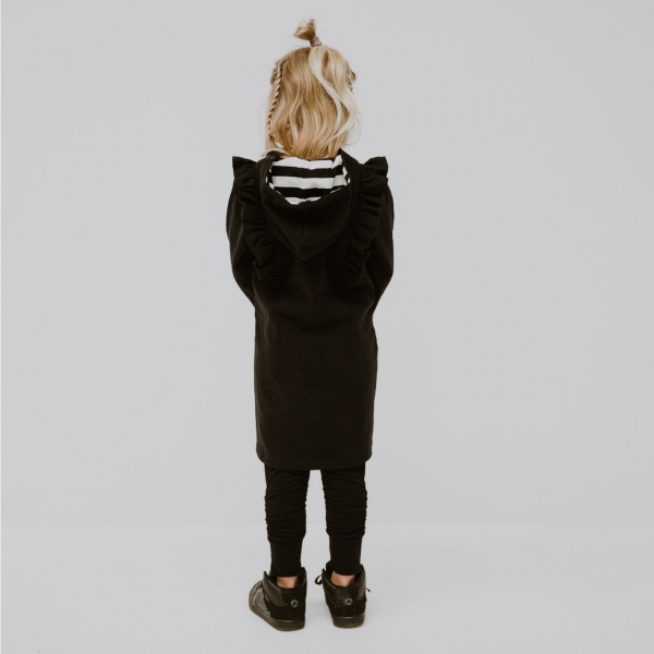 Cute as ruffle hoodie dress by Punk Baby!
