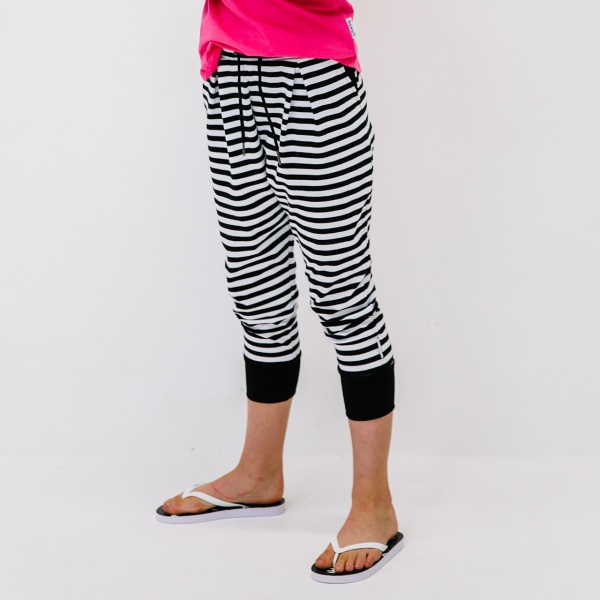 Striped-Crop-Joggers