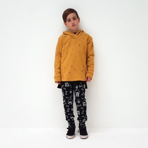 This Hoodie is the ultimate in cool, distressed fabric with wee holes throughout, grungey, funky, totally rad!