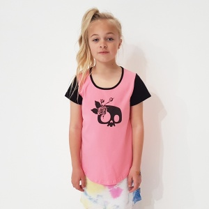 Pink Girlie Skull Tee by Punk Baby