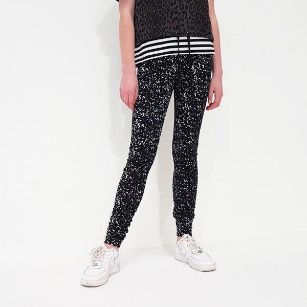 Lily Leggings Black Splatter Fabric by Punk Baby