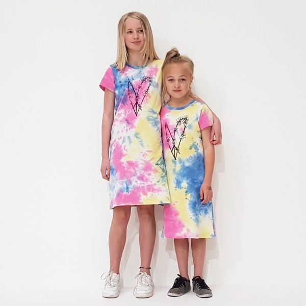 Tie Dye Peace Out Tee Shirt Dress by Punk Baby