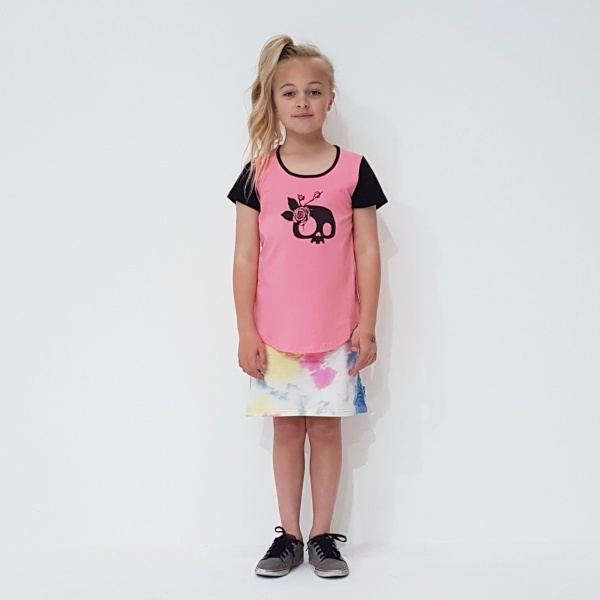 Kaitlyn Skirt in Tie Dye by Punk Baby