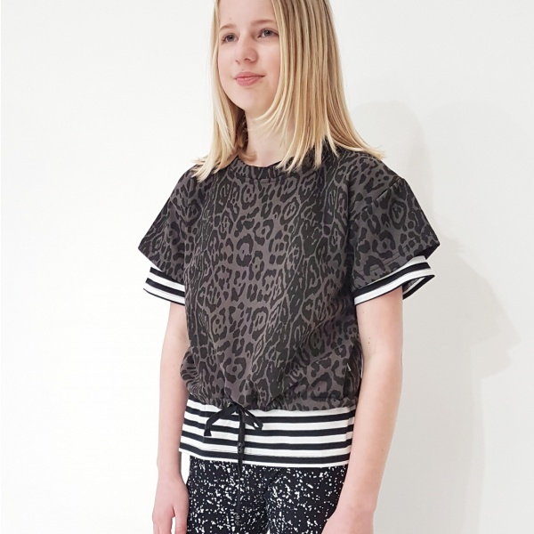 Boxy Crop Sweater - Leopard Print by Punk Baby