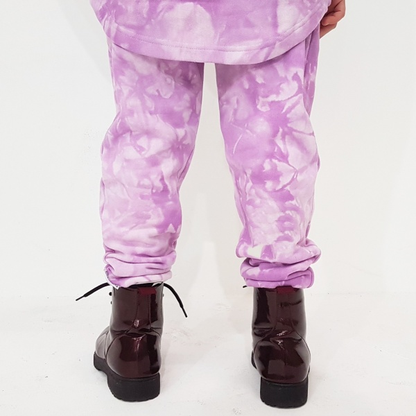 Pleat Front Lilac Joggers