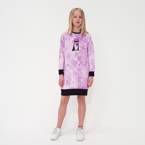 Lilac Super Gal Sweater Dress