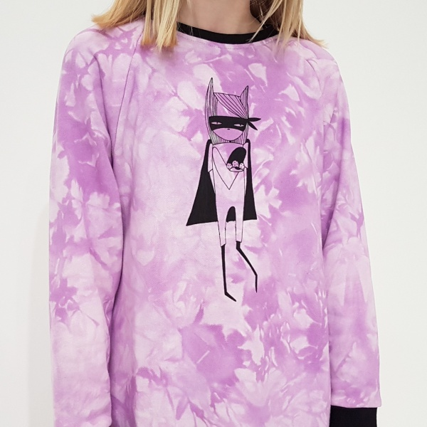 Lilac Super Gal Sweater Dress